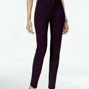 Style Co Tummy-Control Slim-Leg Jeans Dark Grape